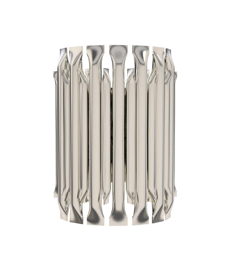 Mid-Century Modern Matheny Small Wall Light with Brass Finish For Sale