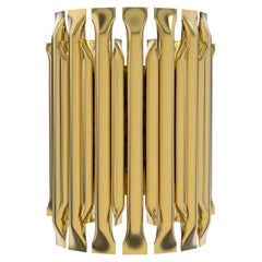 Matheny Small Wall Light with Brass Finish