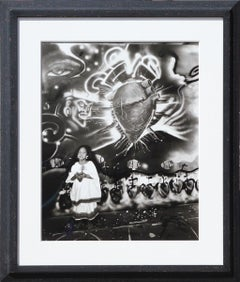 """Treyolia"" Black and White Conceptual Contemporary Photograph"