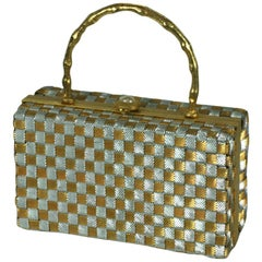 Delill Woven Silver and Gold Box Bag