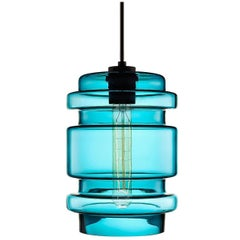 Delinea Condesa Handblown Modern Glass Pendant Light, Made in the USA