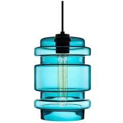 Delinea Condesa Handblown Modern Glass Pendant Light, Made in the USA