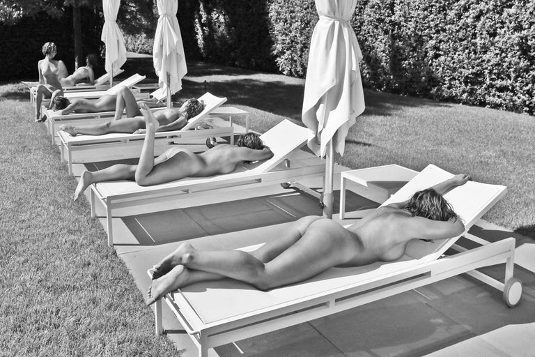 Dell Cullum Nude Photograph - Lounging Sextuplets in BW