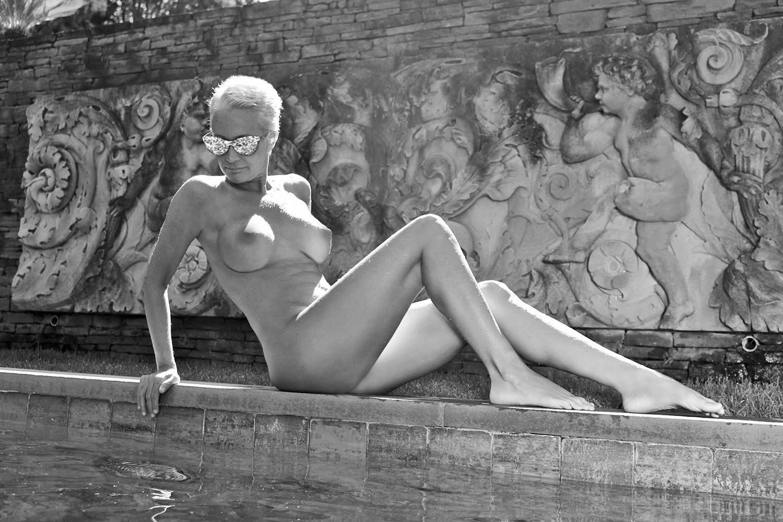 Poolside Sitting