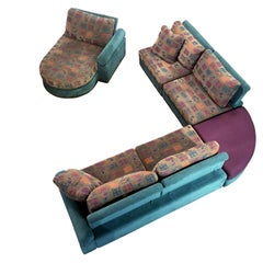 Dellarobbia Teal Microsuede Sectional Sofa Lounge Chairs & Chaise