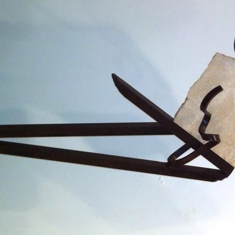 Balanced Point - Abstract Sculpture by Delos Van Earl