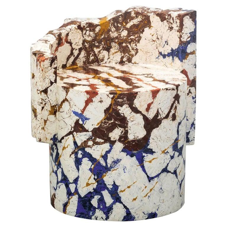 Roberto Sironi Delphi chair in <i>marmo di Rima</i>, 2020