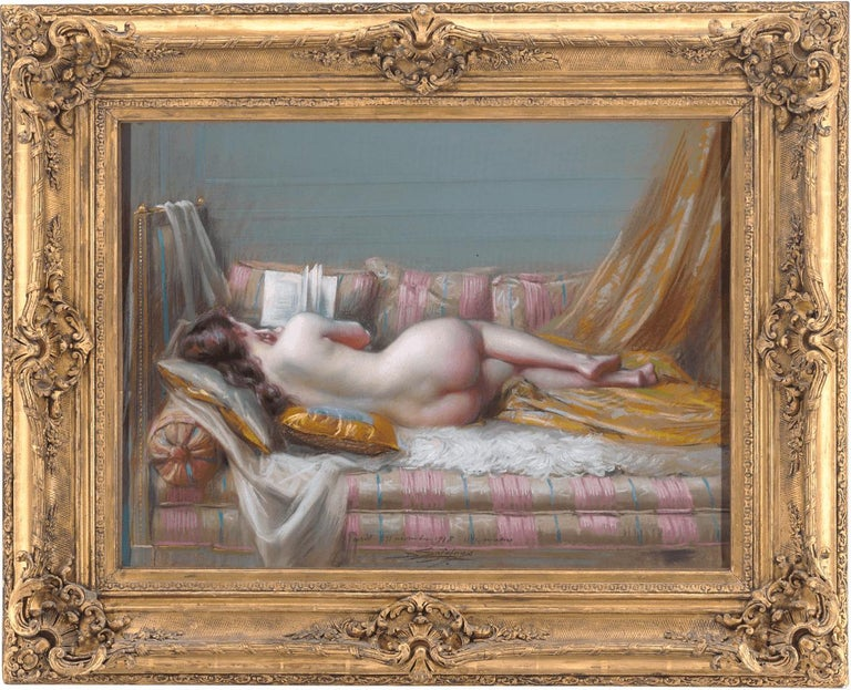 Nu Allongé (Lying Nude) - Painting by Delphin Enjolras