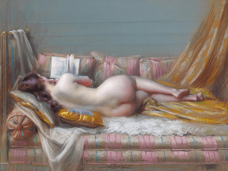 Delphin Enjolras Nude Painting - Nu Allongé (Lying Nude)