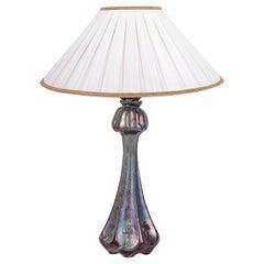 Delphin Massier Art Glass Lamp, circa 1860