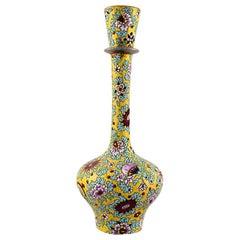 Delphin Massier for Vallauris, Narrow Necked Unique Art Nouveau Vase