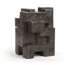Block III, Abstract Bronze Sculpture