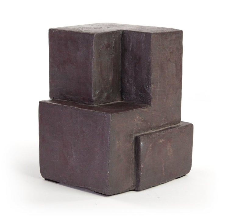 Block IX, Abstract Terracotta Sculpture For Sale 1