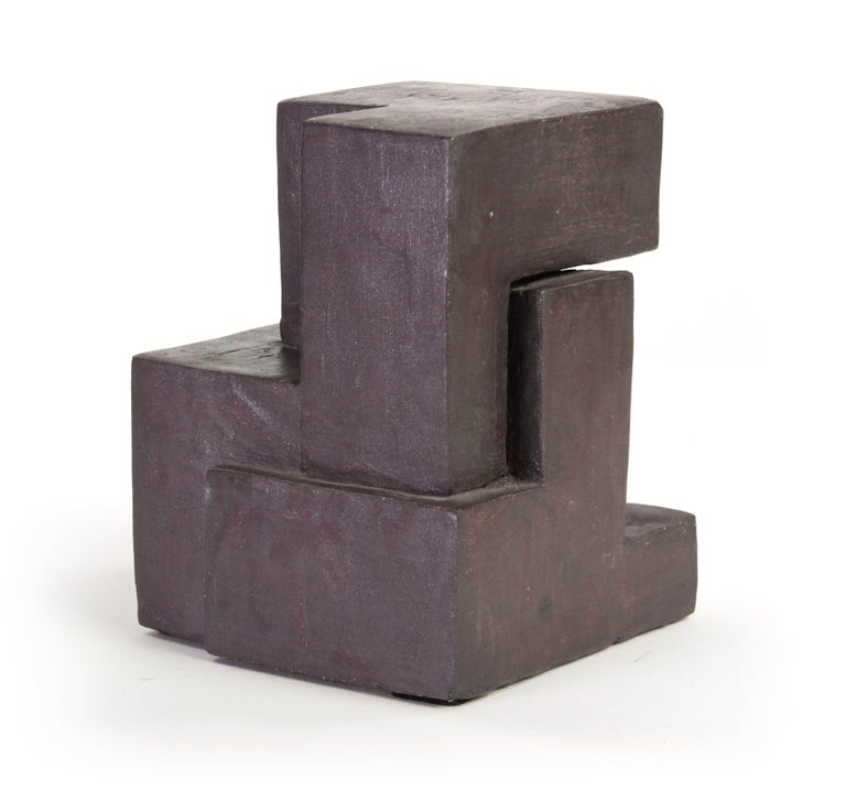 Block IX, Abstract Terracotta Sculpture For Sale 2