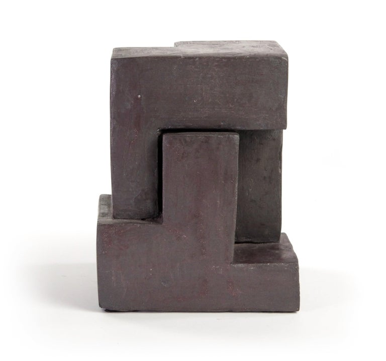 Block IX, Abstract Terracotta Sculpture For Sale 3