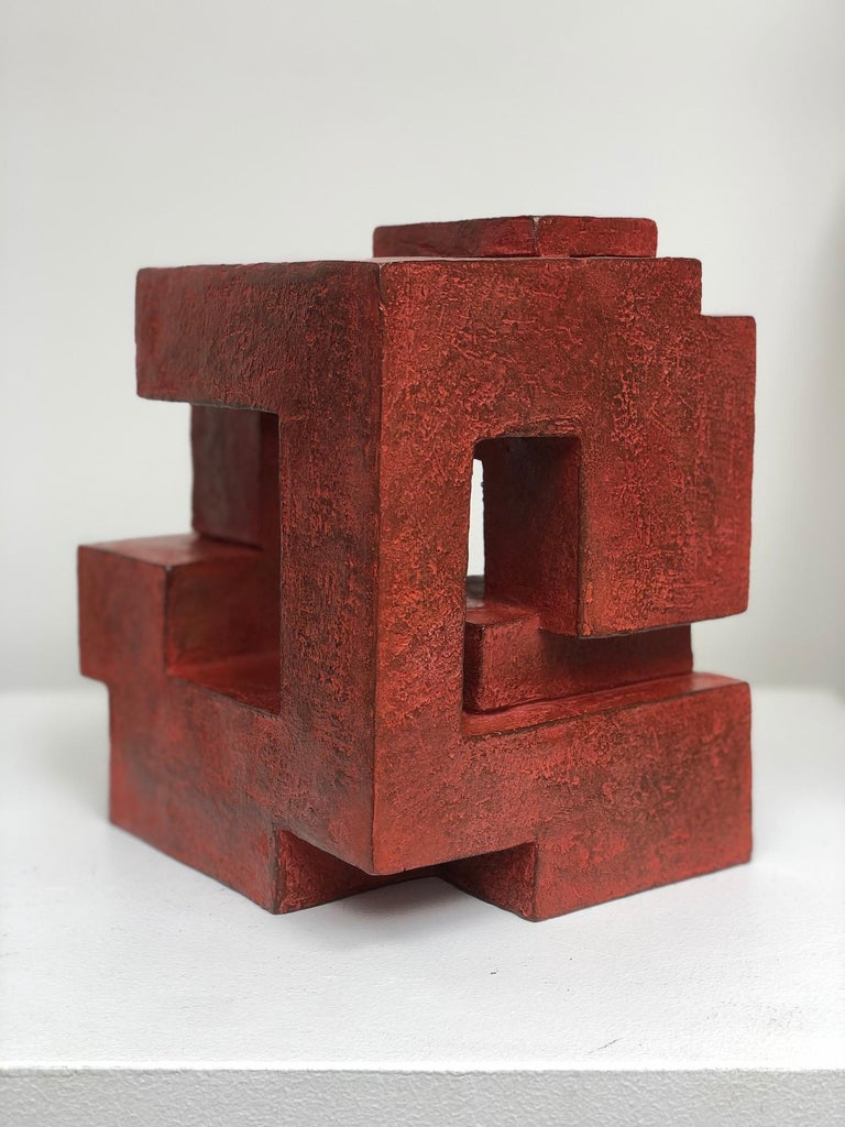 Block VIII by Delphine Brabant - Abstract Bronze Sculpture, Geometric For Sale 1