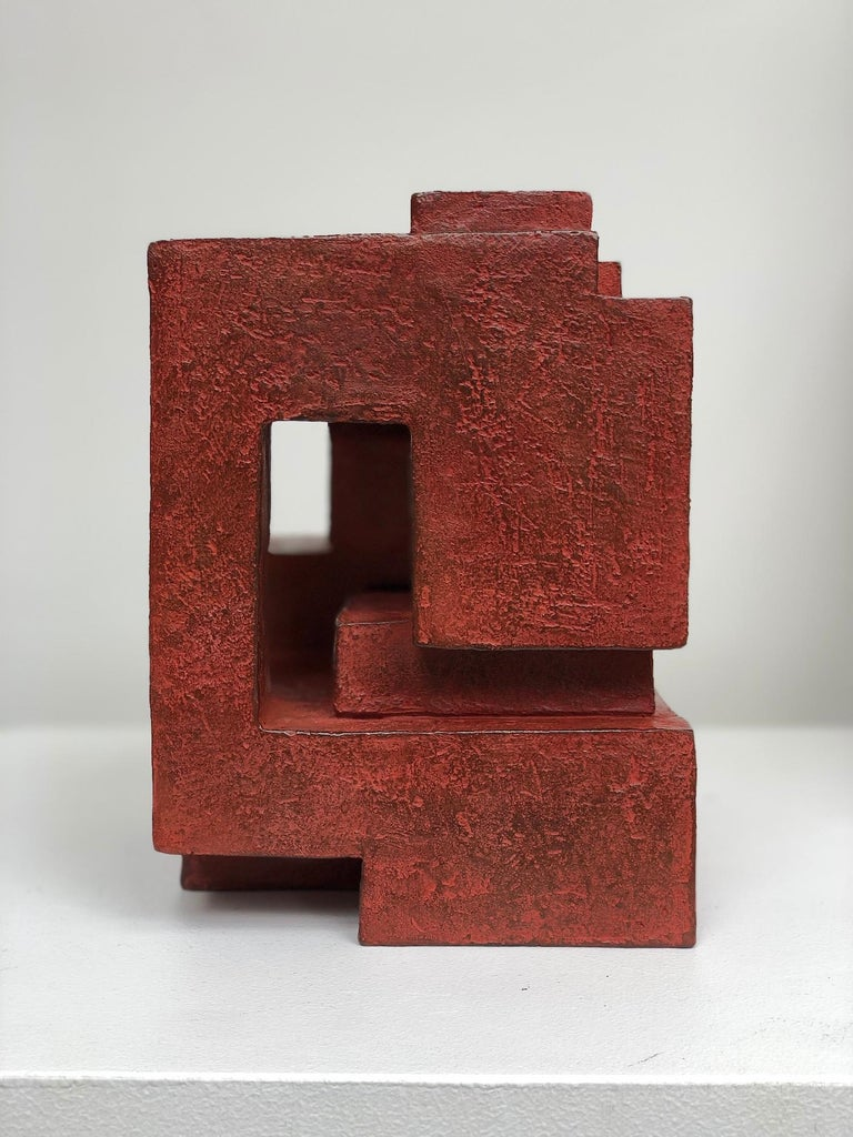 Block VIII by Delphine Brabant - Abstract Bronze Sculpture, Geometric For Sale 2