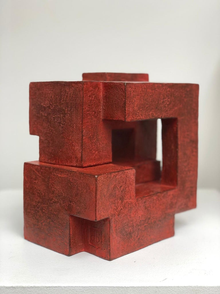 Block VIII by Delphine Brabant - Abstract Bronze Sculpture, Geometric For Sale 3