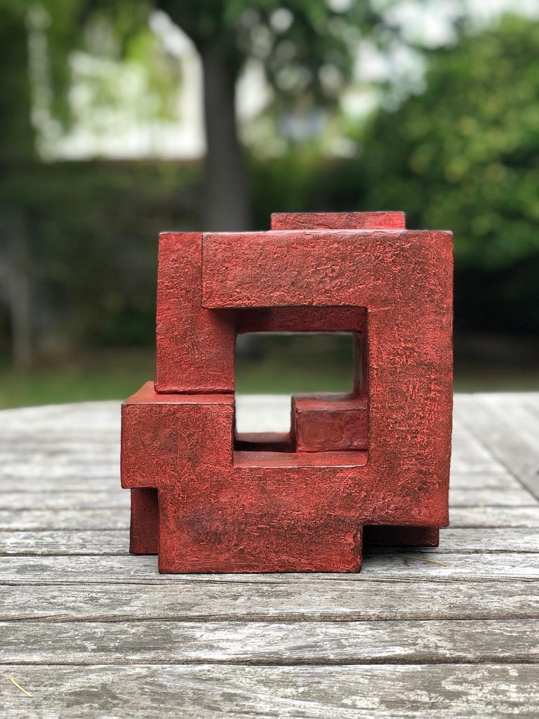 Block VIII by Delphine Brabant - Abstract Bronze Sculpture, Geometric For Sale 4