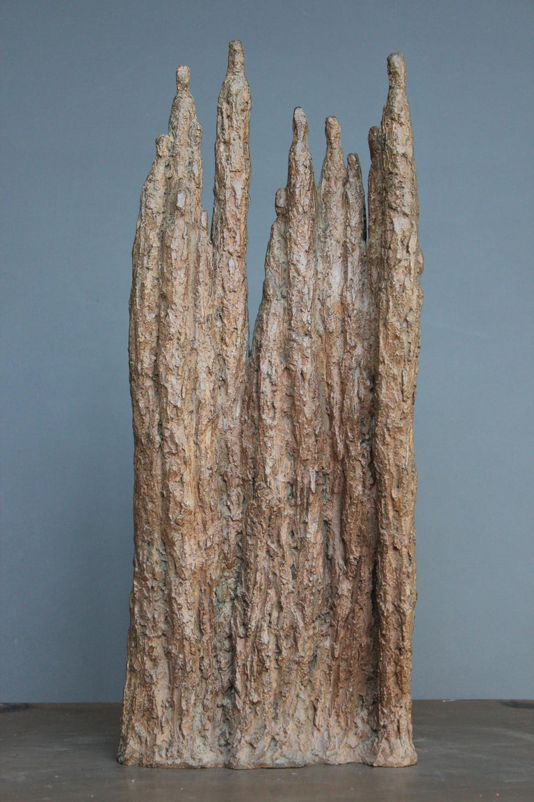 Delphine Brabant Figurative Sculpture - Cathedral (bronze sculpture, group)