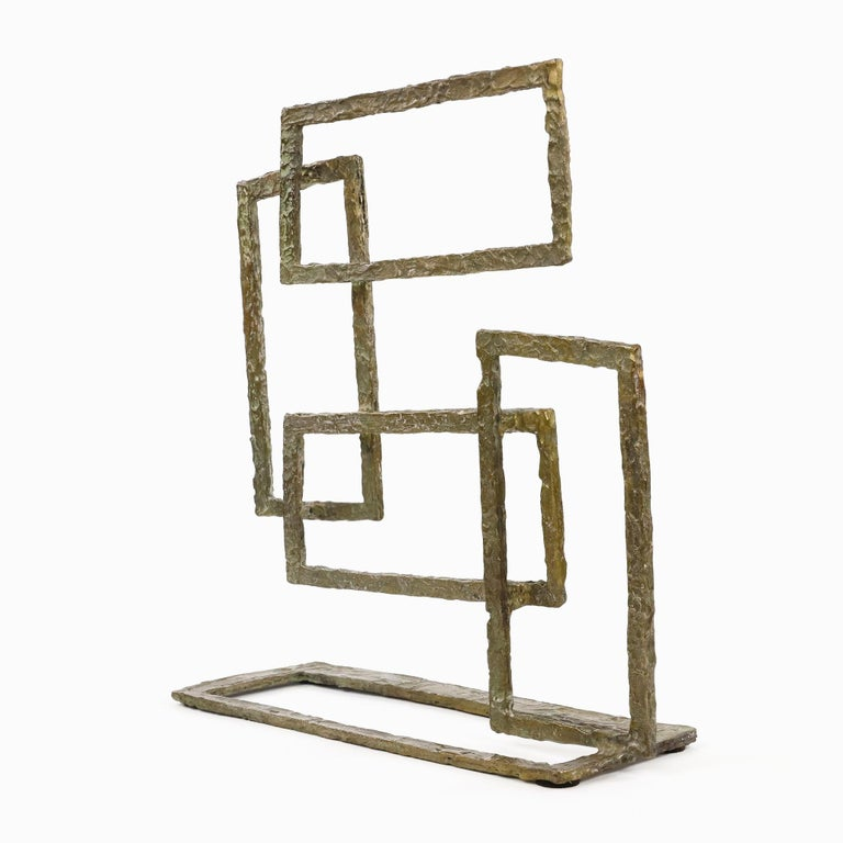 Composition V, Abstract Bronze Sculpture For Sale 2