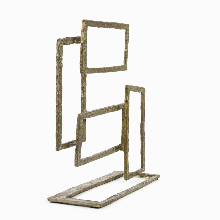 Composition V, Abstract Bronze Sculpture For Sale 3