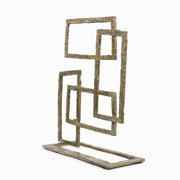 Composition V, Abstract Bronze Sculpture For Sale 4