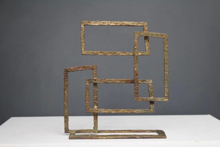 Composition V, Abstract Bronze Sculpture For Sale 1