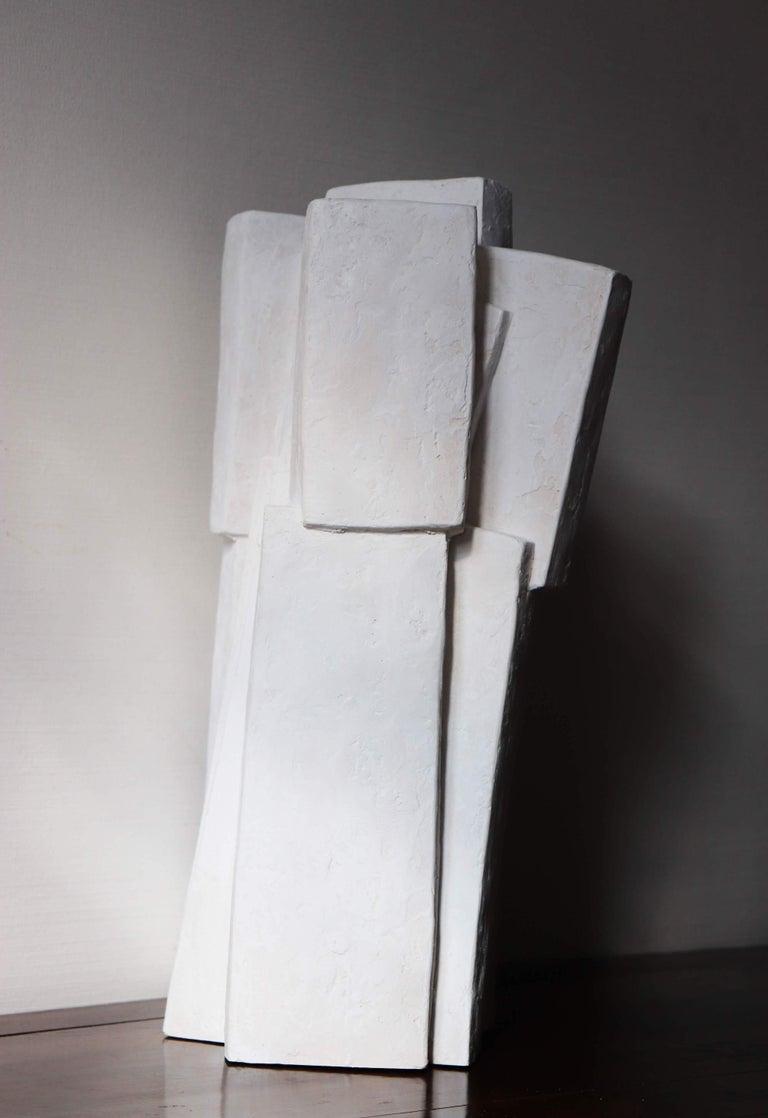 Ensemble III (Geometric Sculpture, Resin) For Sale 1