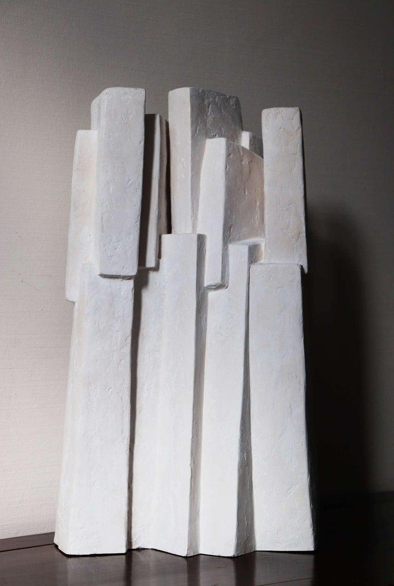 Delphine Brabant Abstract Sculpture - Ensemble III (Geometric Sculpture, Resin)