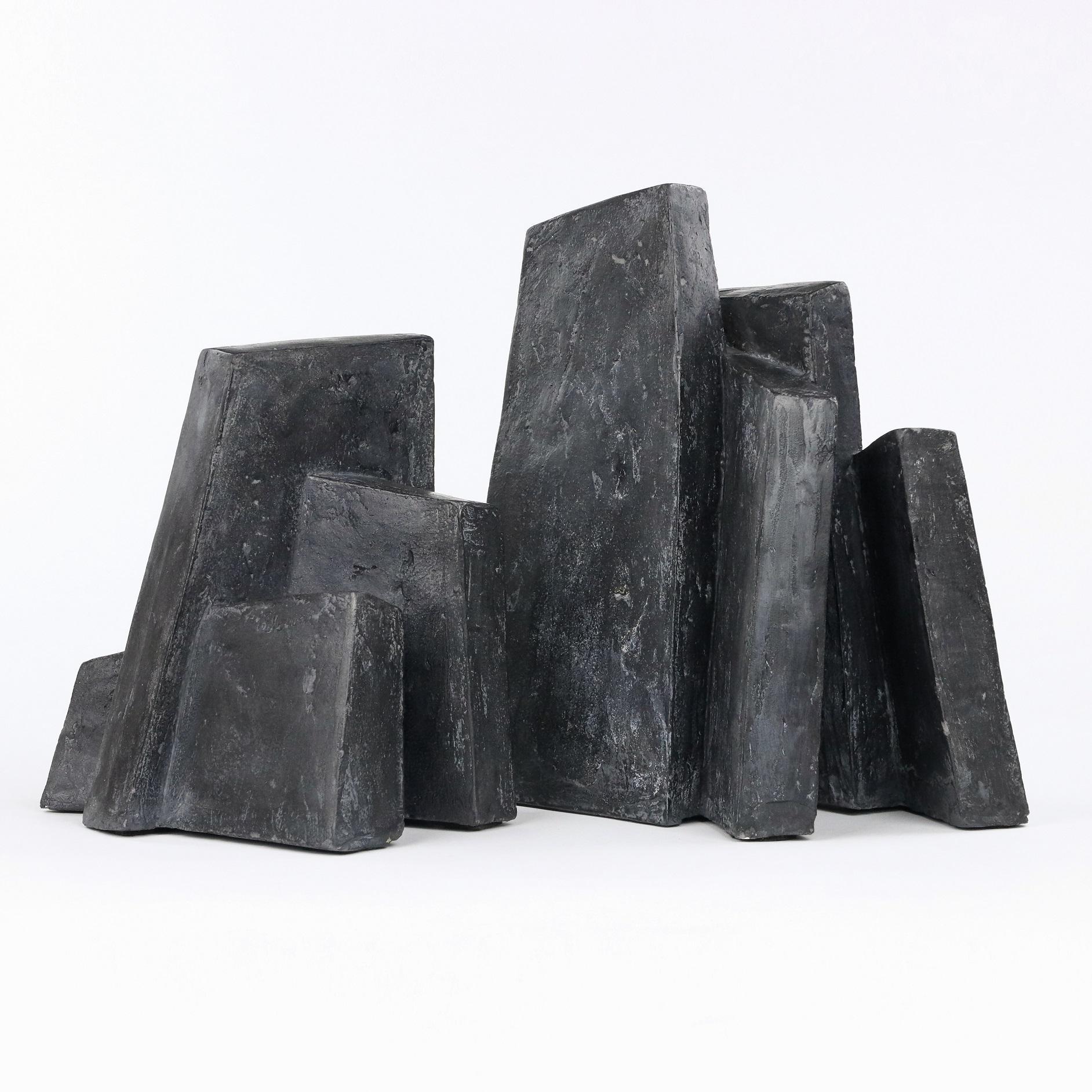 Fragment Noir, Abstract Geometric Sculpture