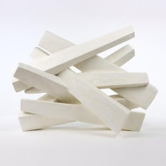 Furrows II Plaster, Abstract Sculpture