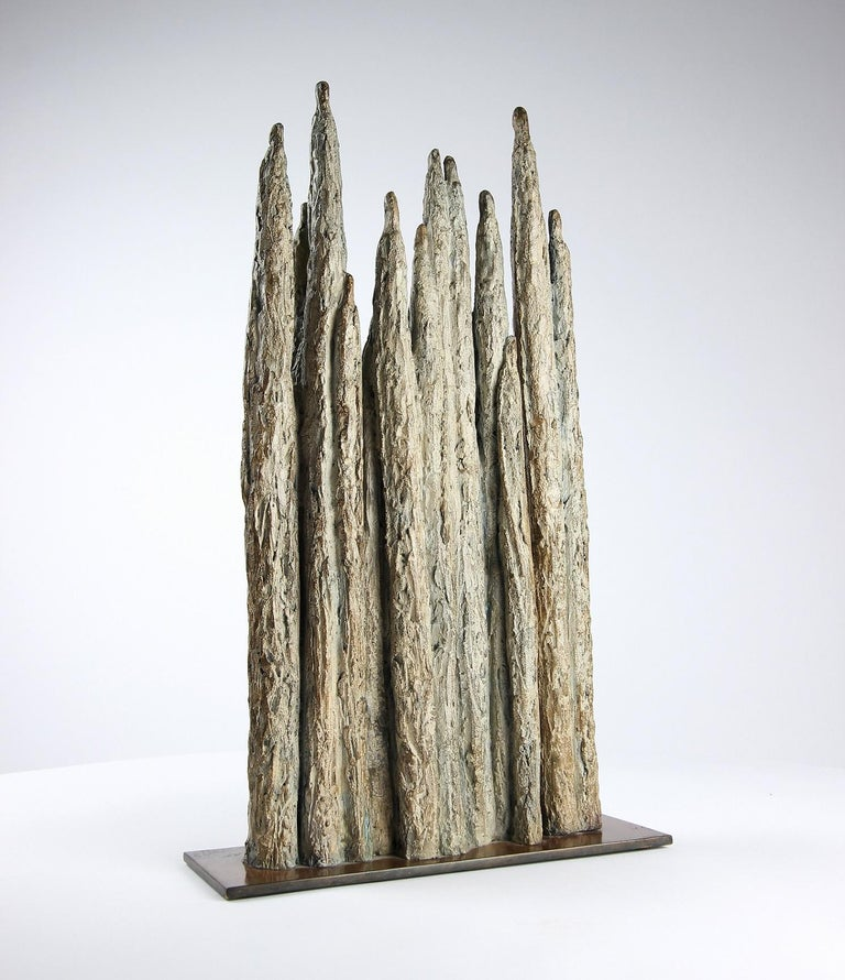 Invitation, Semi Abstract Bronze Sculpture For Sale 2
