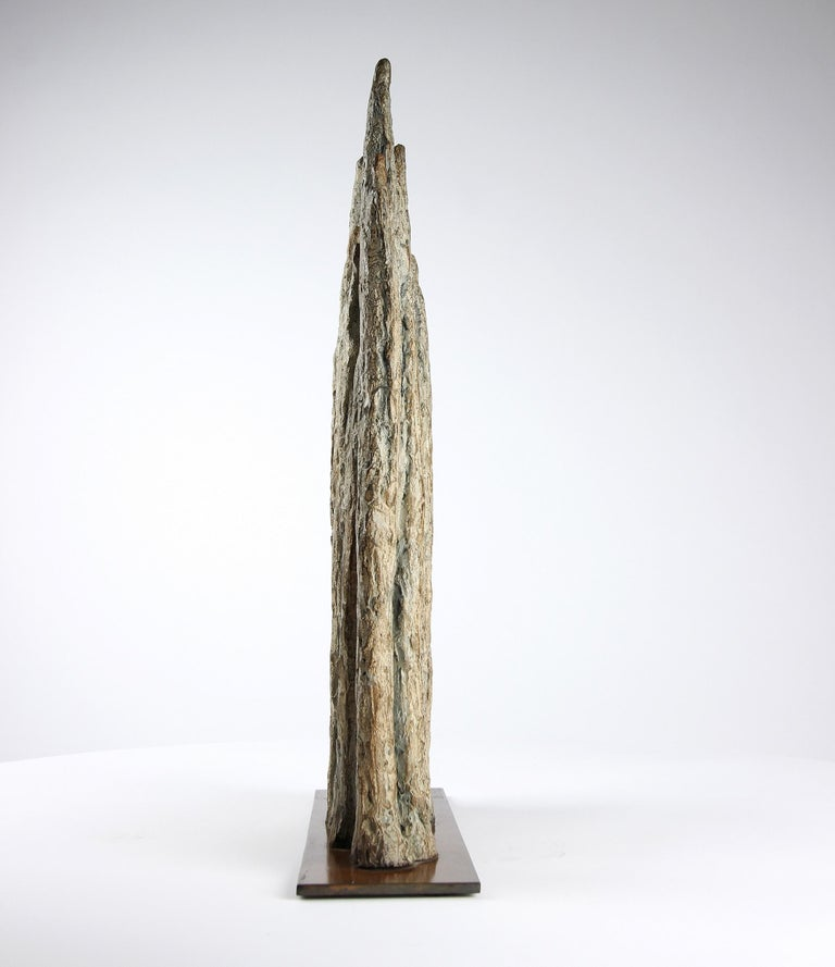 Invitation, Semi Abstract Bronze Sculpture For Sale 3
