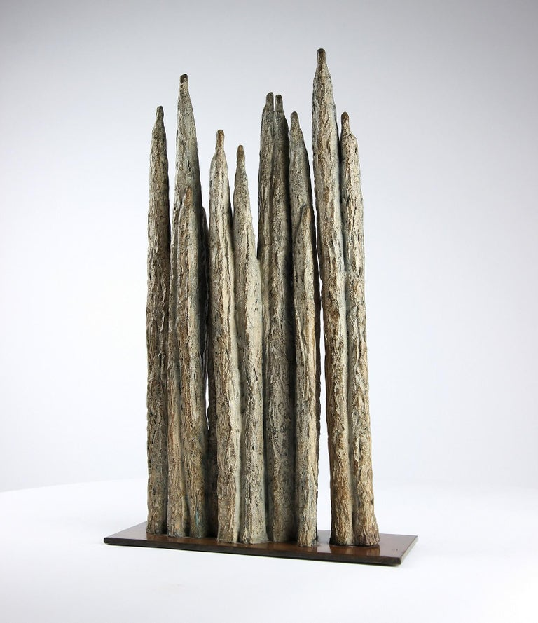 Invitation, Semi Abstract Bronze Sculpture For Sale 4