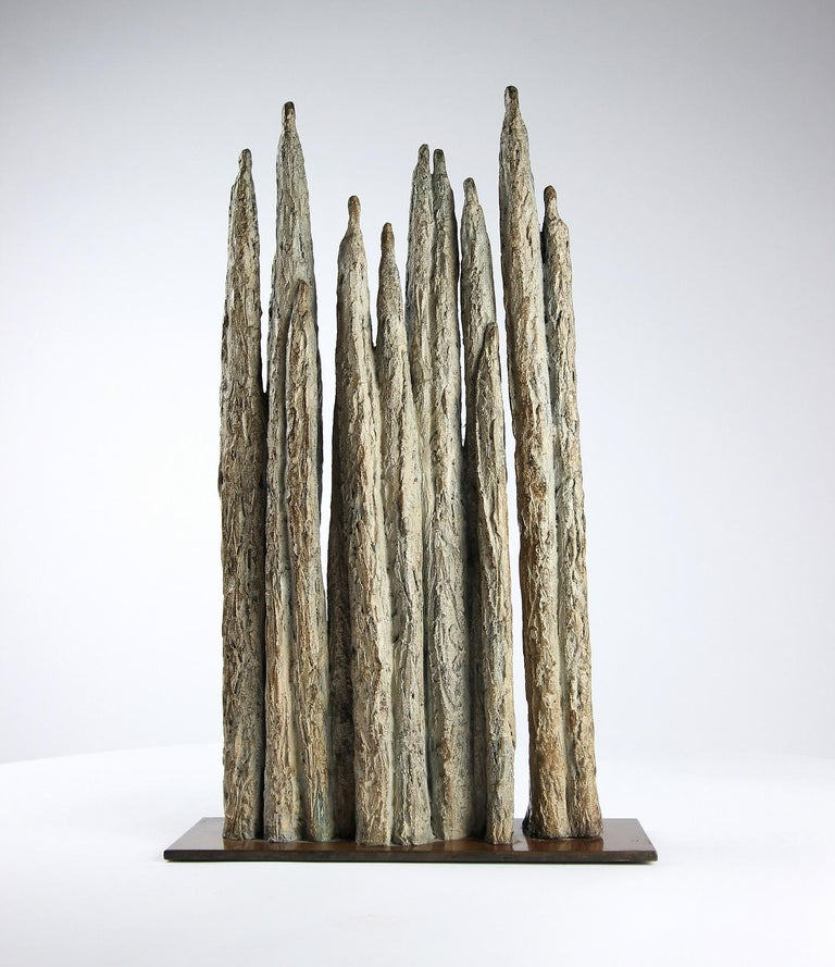 Invitation, Semi Abstract Bronze Sculpture For Sale 5