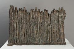 Mur (Wall) by Delphine Brabant - contemporary bronze sculpture