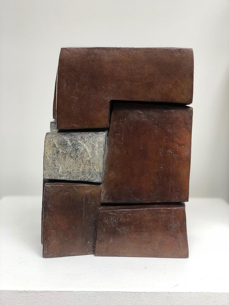 Unity II by Delphine Brabant - Abstract Bronze Sculpture, Geometric For Sale 2