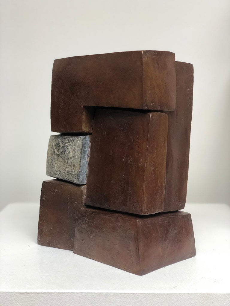 Unity II by Delphine Brabant - Abstract Bronze Sculpture, Geometric For Sale 3