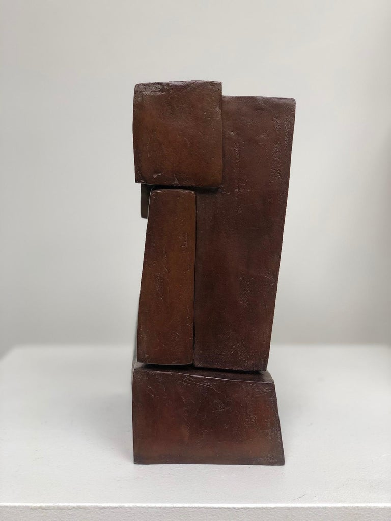 Unity II by Delphine Brabant - Abstract Bronze Sculpture, Geometric For Sale 4