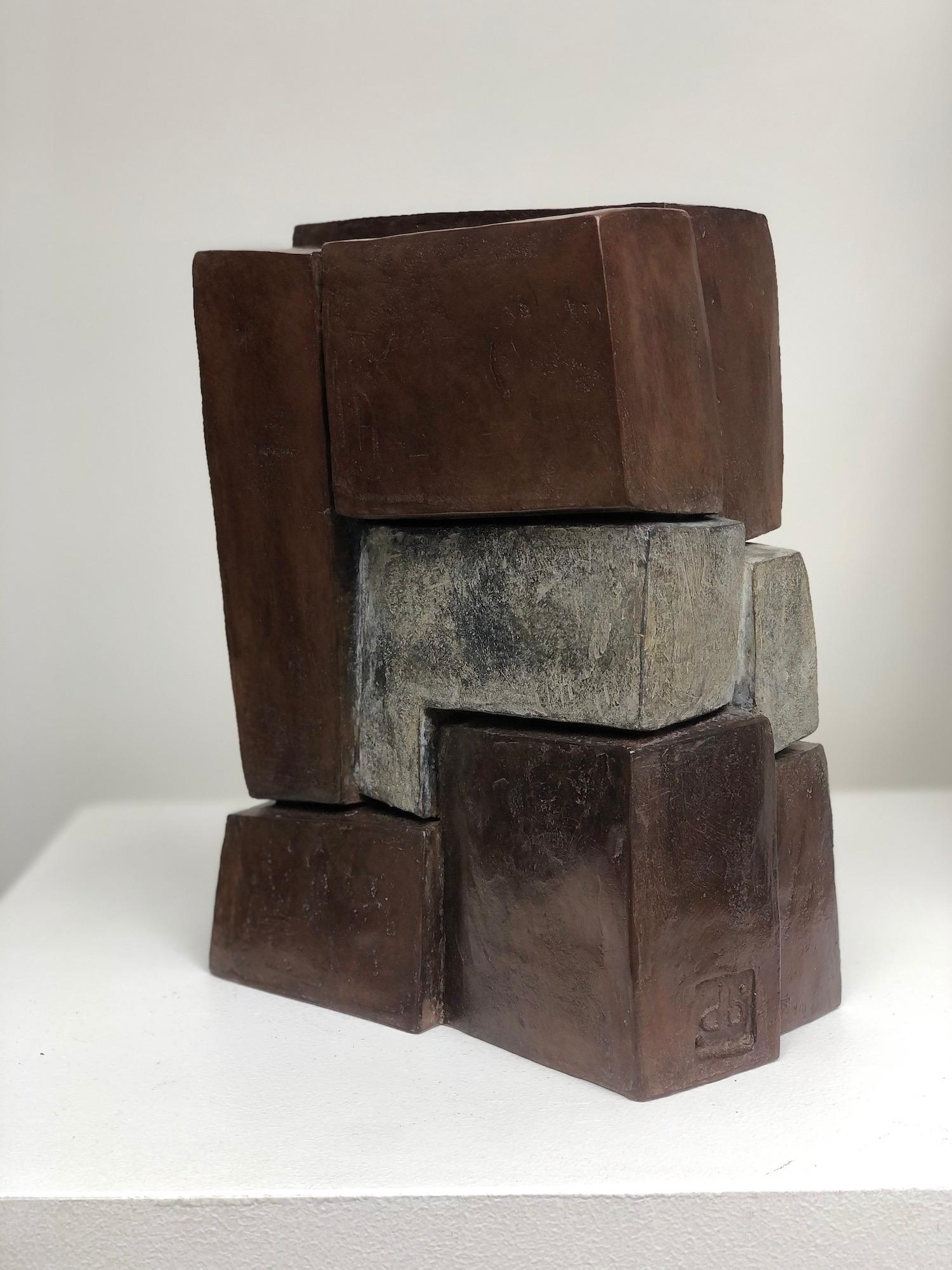 Unity II by Delphine Brabant - Abstract Bronze Sculpture, Geometric