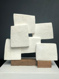 Unity Wood III - Abstract Geometric Sculpture
