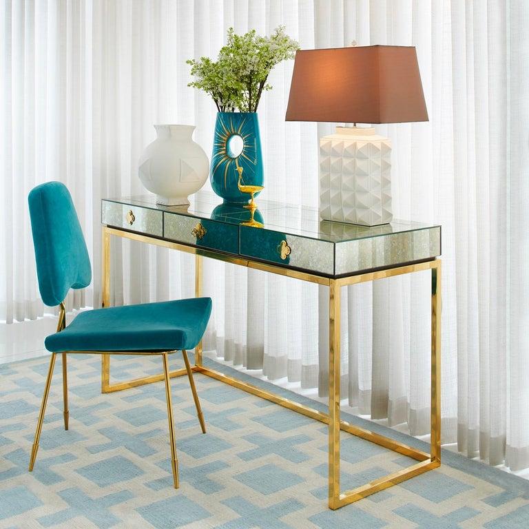 Delphine Mirrored Desk For Sale 1
