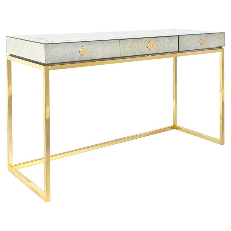 Delphine Mirrored Desk For Sale
