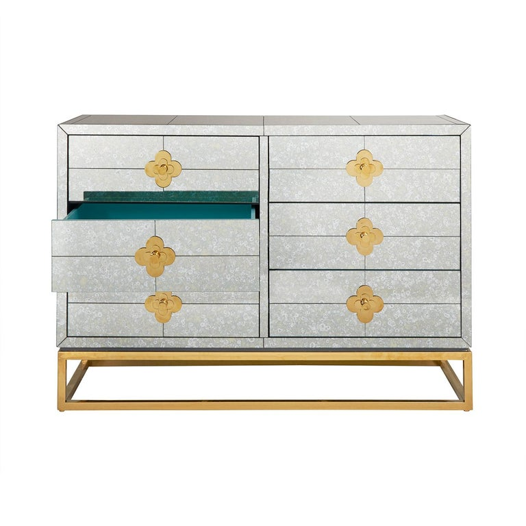 Delphine Mirrored Dresser In New Condition For Sale In New York, NY