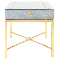Delphine Mirrored Side Table