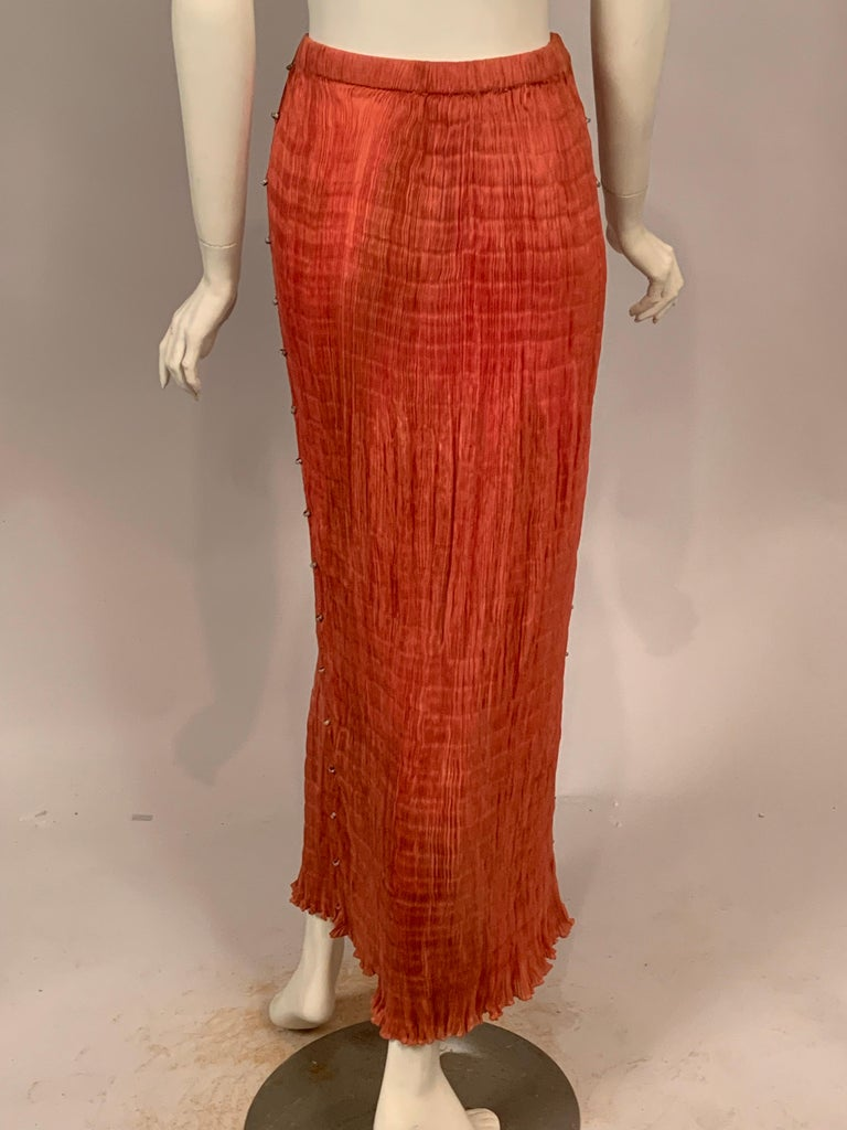 Delphos Venezia Fortuny Style Strapless Dress or Long Skirt For Sale 5
