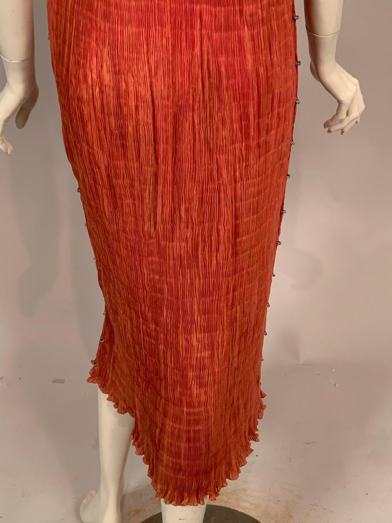 Delphos Venezia Fortuny Style Strapless Dress or Long Skirt For Sale 7