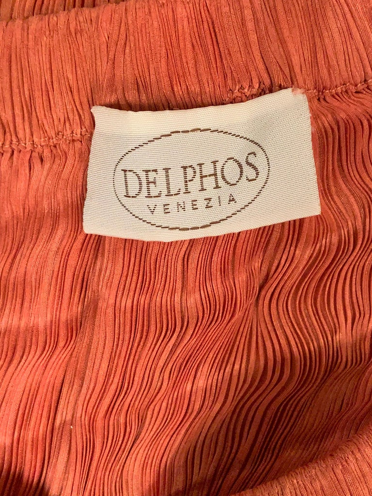 Delphos Venezia Fortuny Style Strapless Dress or Long Skirt For Sale 10