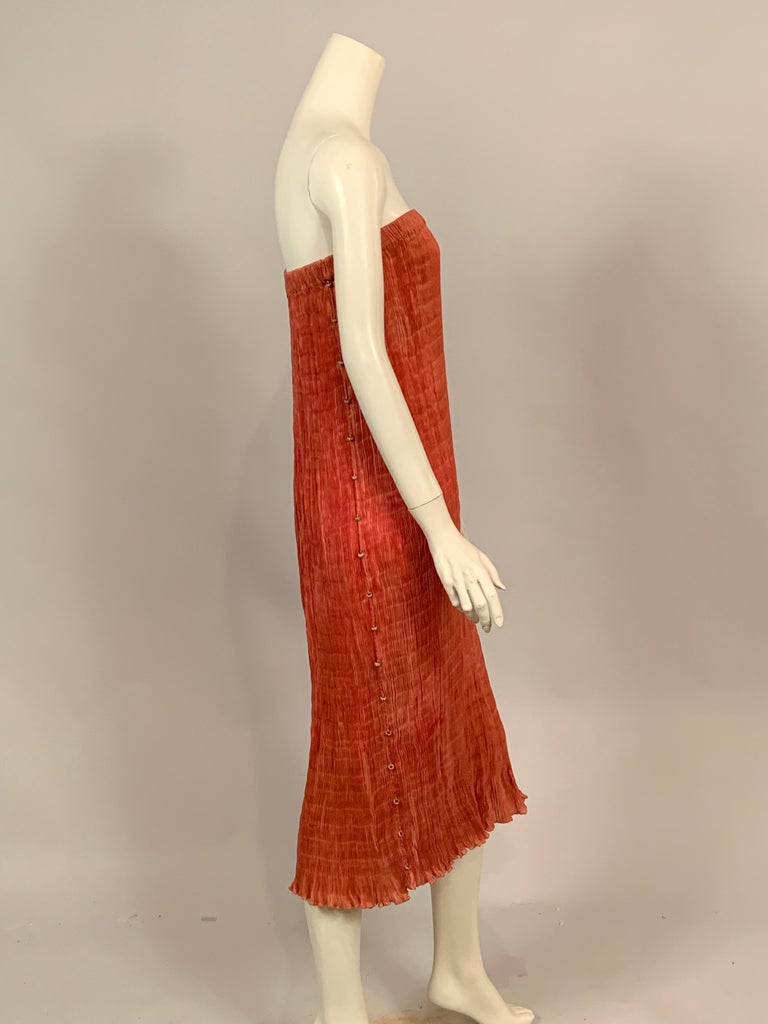 Delphos Venezia Fortuny Style Strapless Dress or Long Skirt In Good Condition For Sale In New Hope, PA